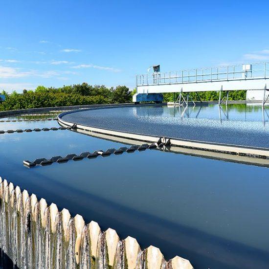 Modern urban wastewater treatment plant-600x600